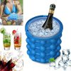 0 1PC Silicone Ice Bucket Durable Drink Wine Rapid Cooling Storage Space Saving Seaside Travel Springtime Outing