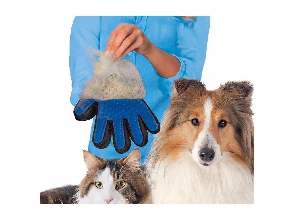 True Touch Five Finger Deshedding Glove 4