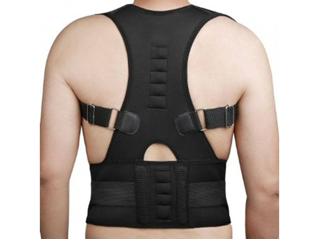 Men s Magnetic Posture Corrector Corset Back Support Brace Lumbar Support Straight Back Belt Posture Corrector 0