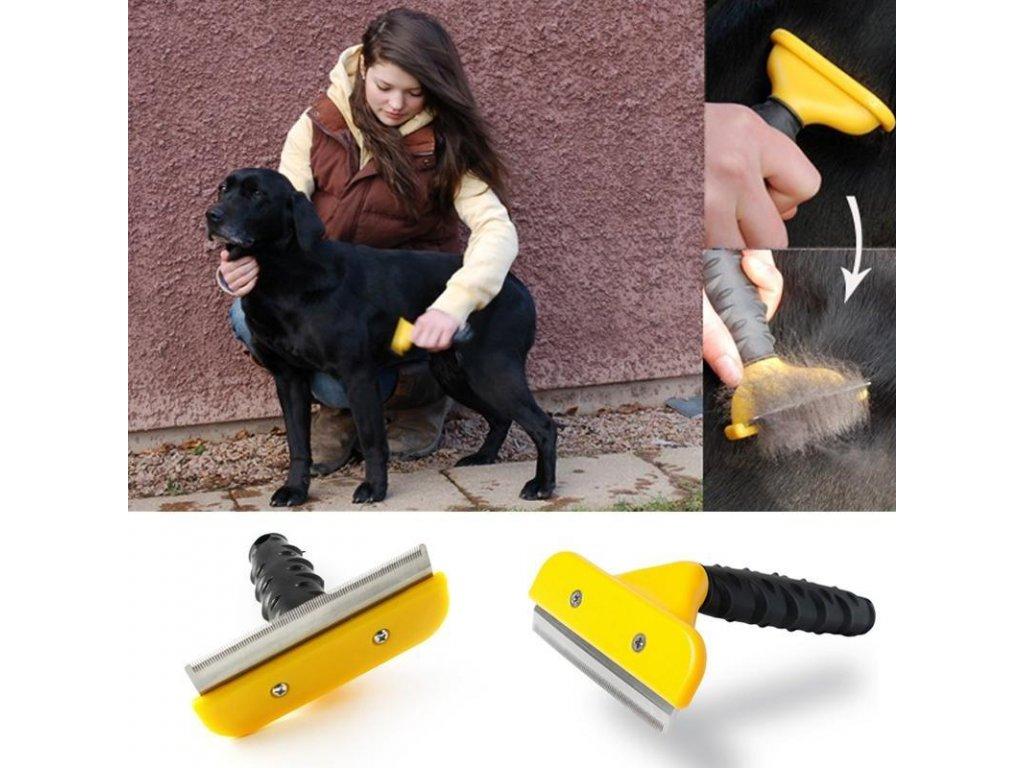 Profesionálny hrebeň na vyčesávanie chlpov psov a mačiek - furminator