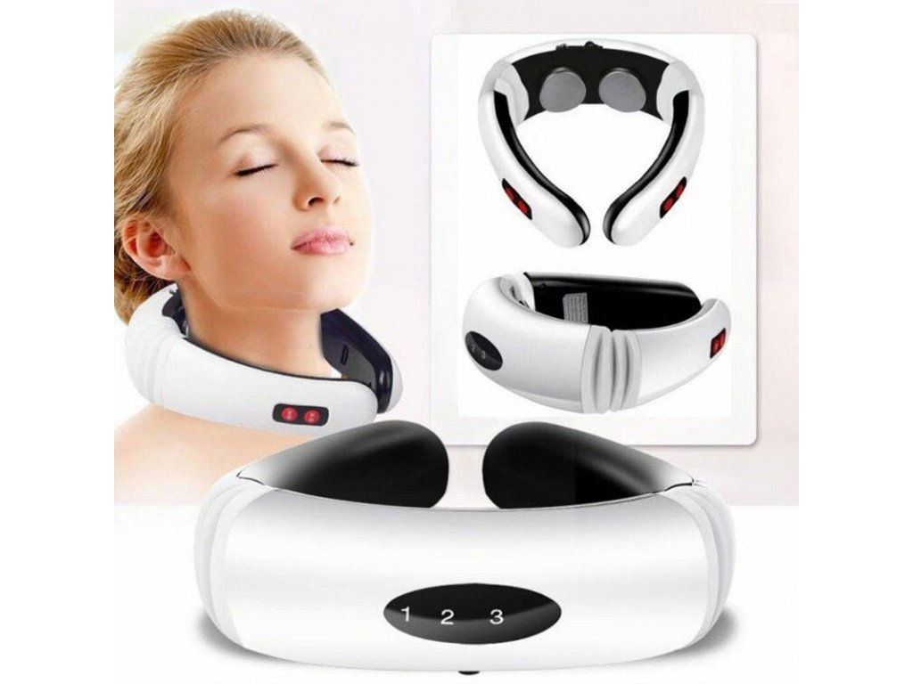 103088 11 0 electric pulse back and neck massager far infrared heating pain relief health care relaxation tool intelligent