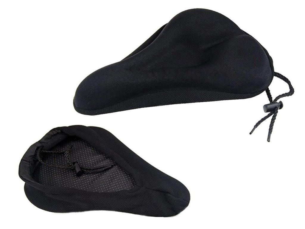 eng pl A gel cover on the bicycle seat large and solid soft black 2093 1 3