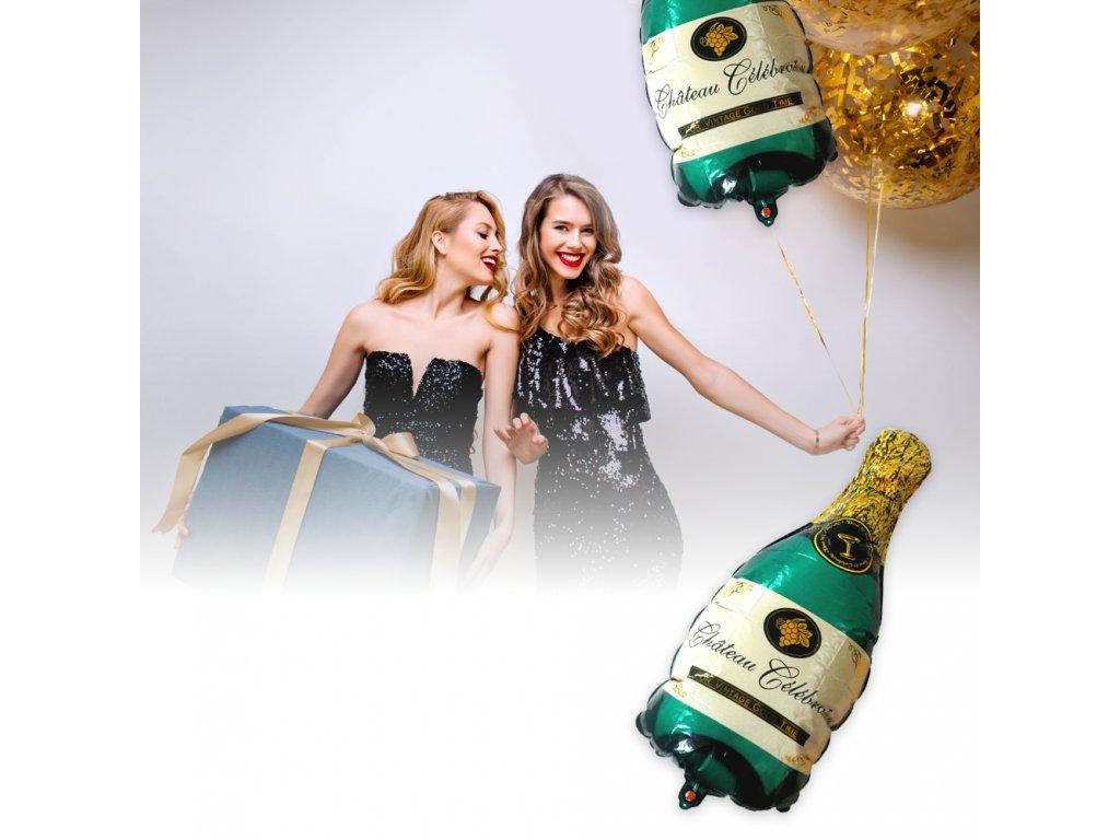 0043800 foliovy balonek zelene sampanske