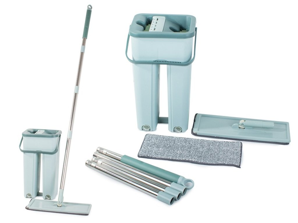 eng pl Flat Mop With Double Chamber Bucket 1913 1 3