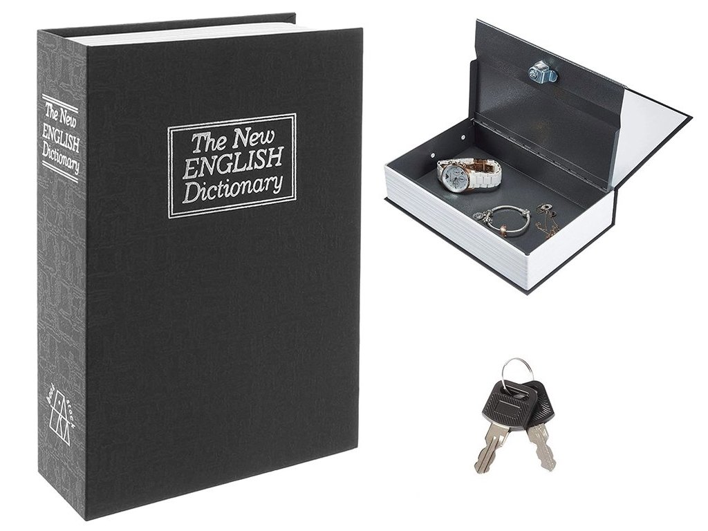 eng pl Safe Book Metal Box Safe Key 24cm 2031 1