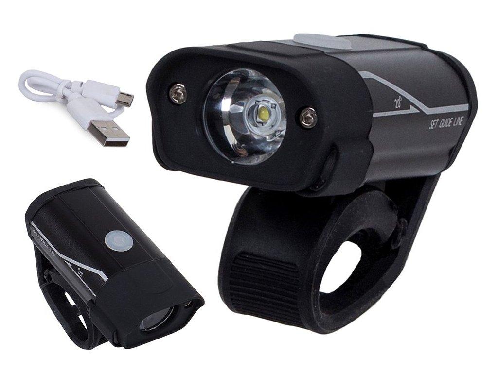 eng pl Bicycle light front flashlight led lamp xm l2 2224 1