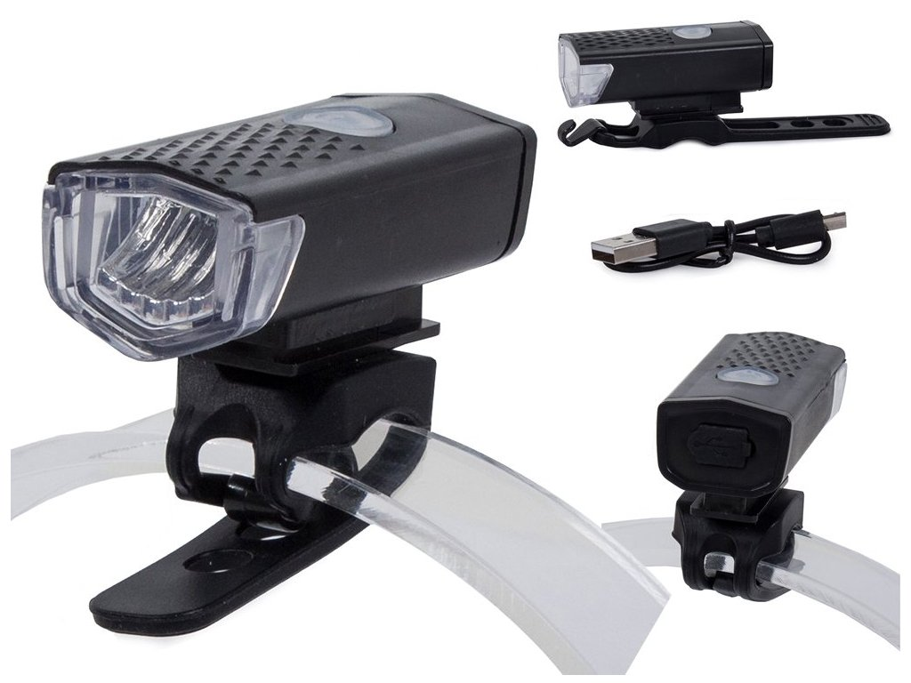 eng pl Bicycle light front led flashlight front lamp 2227 1