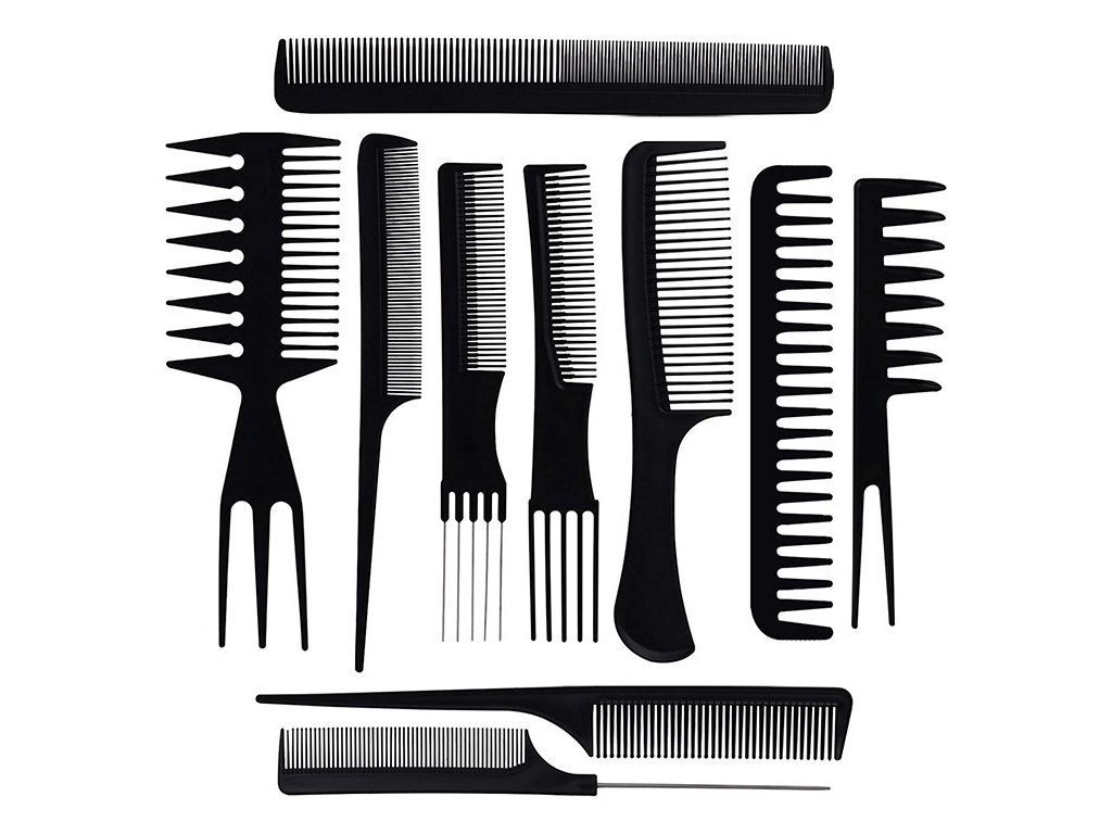 eng pl Barber comb hair combs pouch x10 2119 1 3