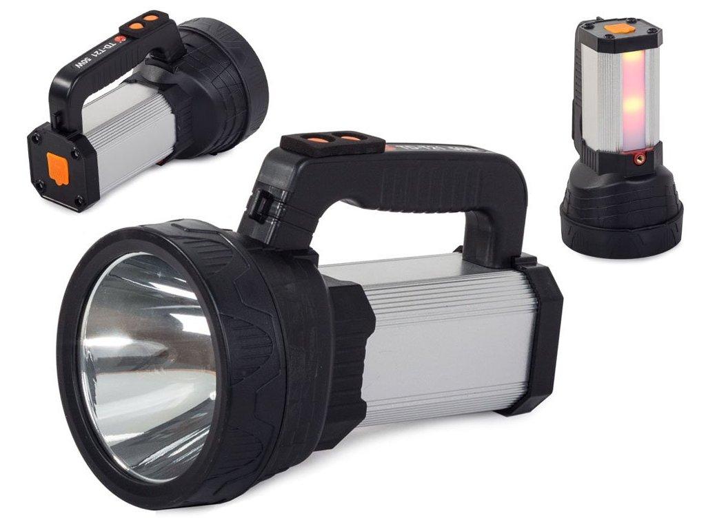 eng pl Power bank solar led XM L L2 COB searchlight 2182 1 3