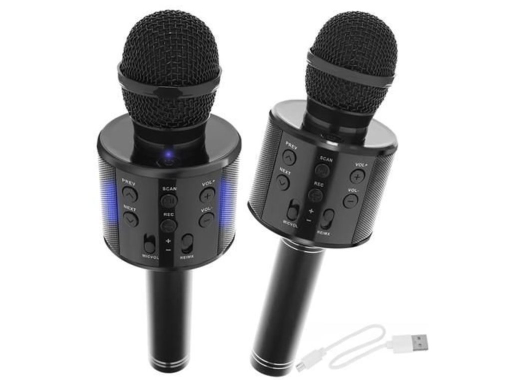 107423 karaoke bluetooth mikrofon cerny