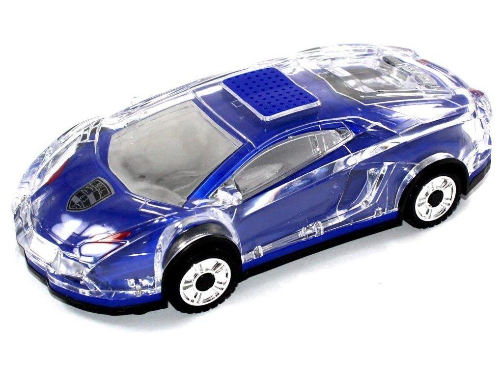 LED reproduktor Bluetooth MLL63 ve tvaru auta Lamborghini (Barva bílá)