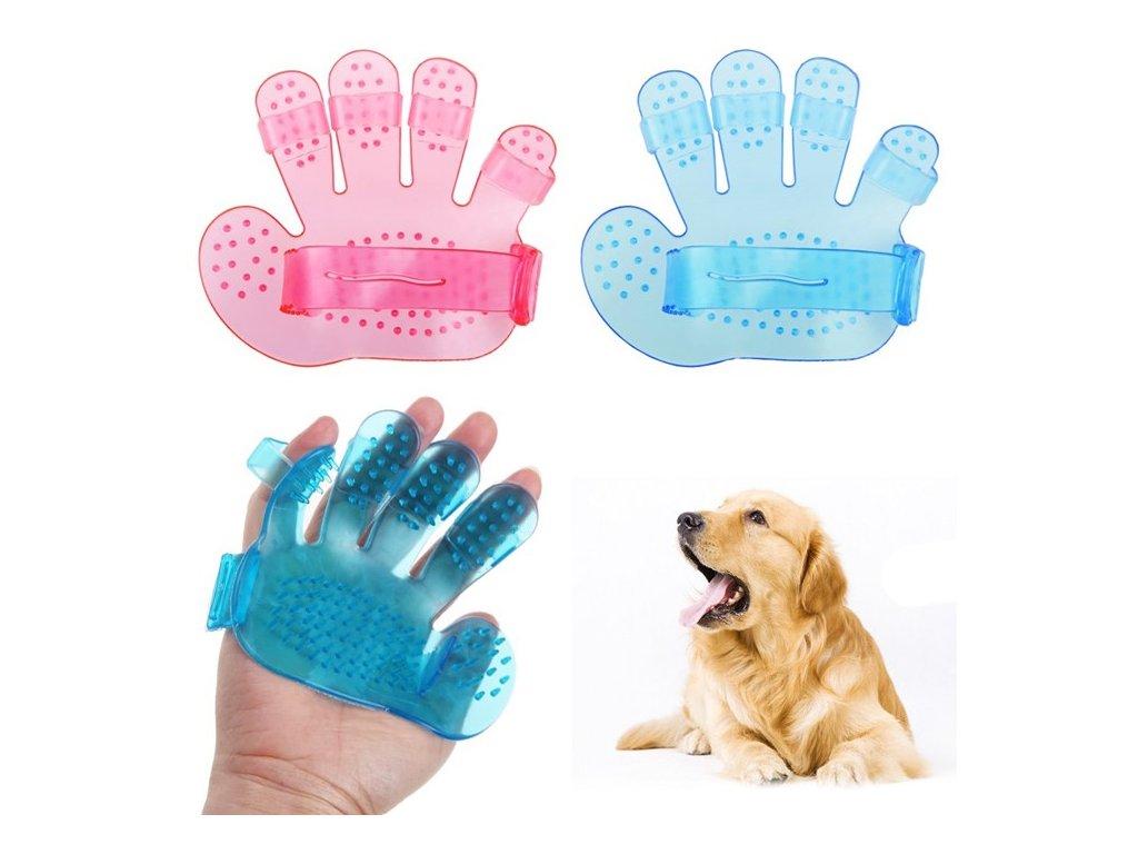 106097 masazni a cistici rukavice na mazlicky pet wash brush
