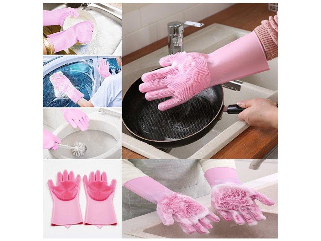 multifunkcni silikonove rukavice magic brusha
