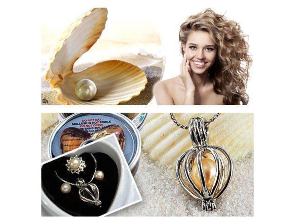 0030129 perla prani v perlorodce s nausnicemi a prstynkem