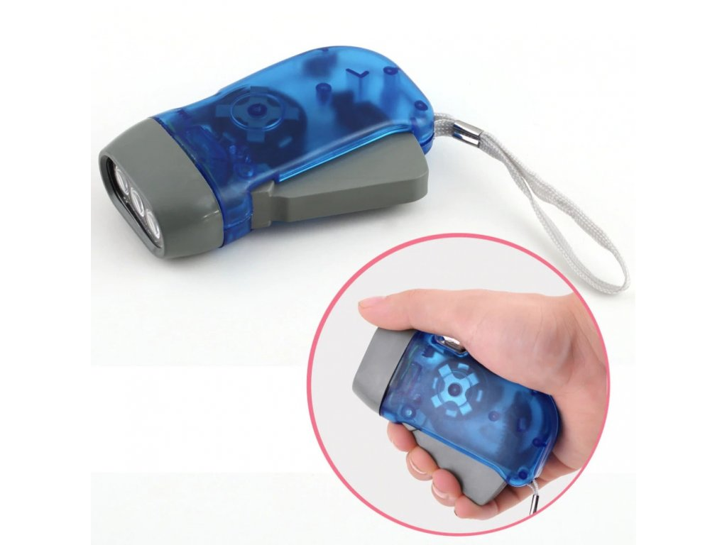 ew hand press 3 led hand crank battery main 0