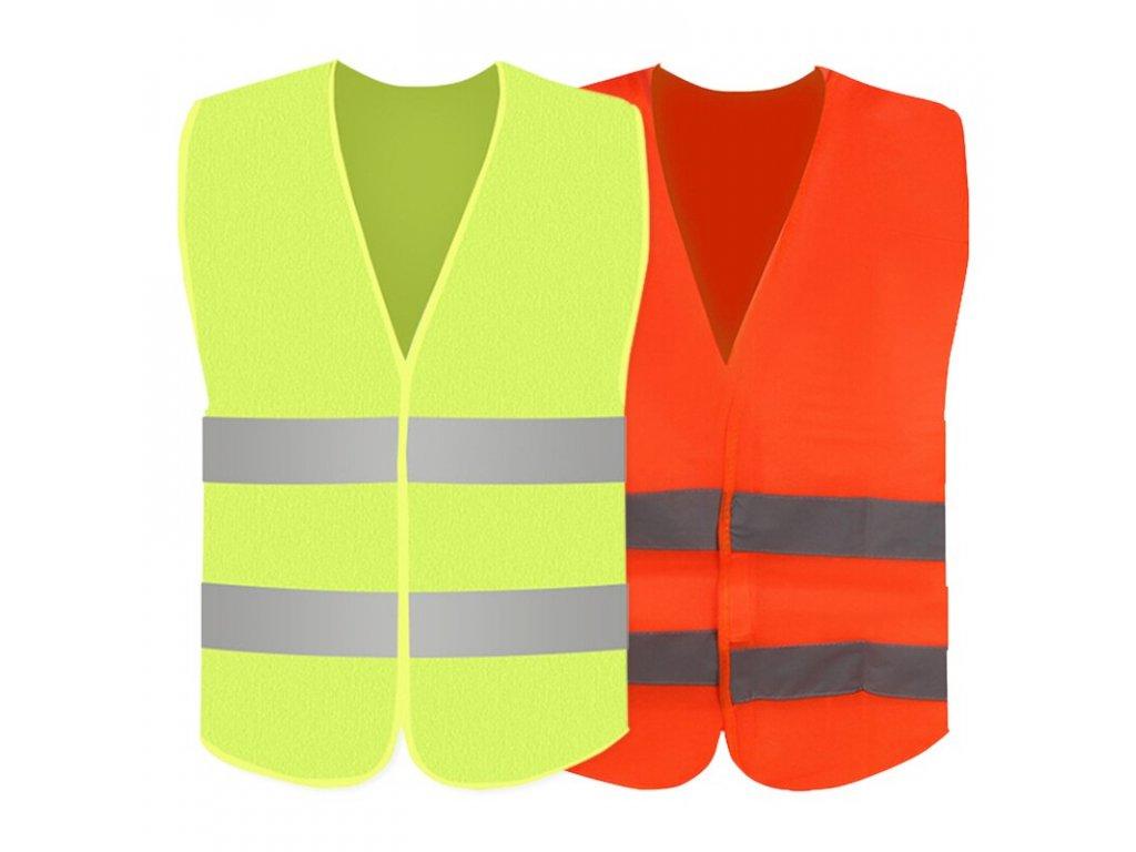 Fashion Green Orange Car Reflective Strip Vest Car Emergency Reflective Vest Fluorescent Mesh Vest Safety Breathable