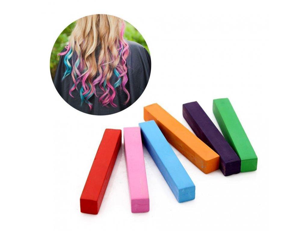 0061681 barevne kridy na vlasy