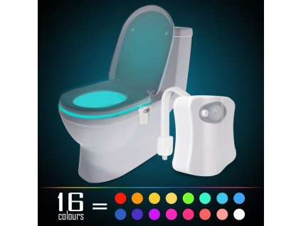 New 16 Colours Changing Body Motion Sensor Toilet Light Sensor Toilet Seat LED Lamp Motion Activated