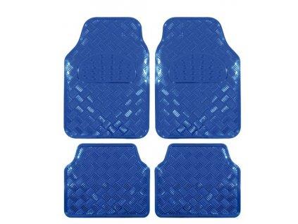 Univerzálny gumové koberce hliníková imitácia modré - 4ks