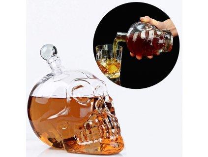 0002409 karafa kristalova lebka 400 ml