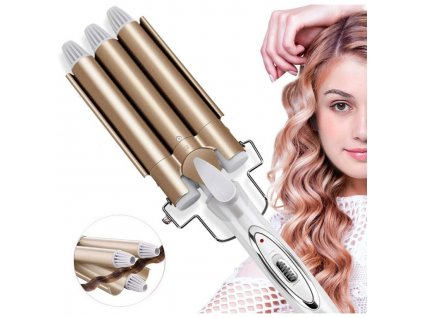 kemei km 1010 three stick curling iron hair curler curling stick water wave splint large curling iron hair styling tool