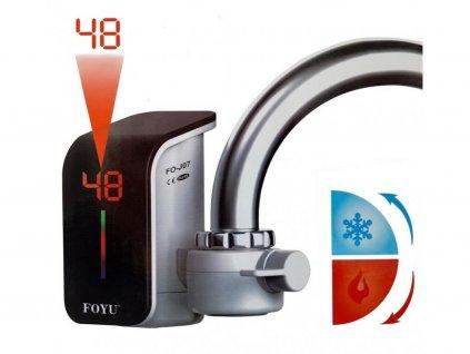 114792 nastavec na vodovodni baterii kohoutek s elektrickym ohrevem vody a lcd displejem foyu fo j07 br6182