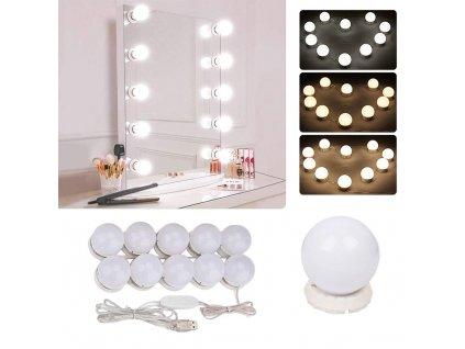 eng pl LED mirror lights makeup set 10 pcs 2504 1