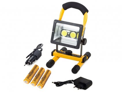 eng pl Halogen Portable Lamp 2 X Led Cob 30w Rechargeable Battery 1370 7