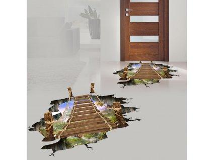 0042710 3d samolepky na podlahu propast