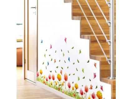 0042610 dekoracni samolepky barevne kyticky