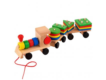 115158 dreveny vlacek s tvary pro deti