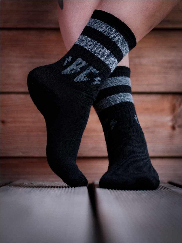 merino ponožky černé breakout