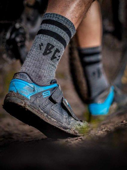 merino ponožky šedé breakout