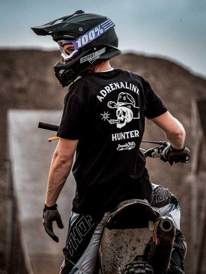 triko organická bavlna černé adrenaline hunter breakout clothing