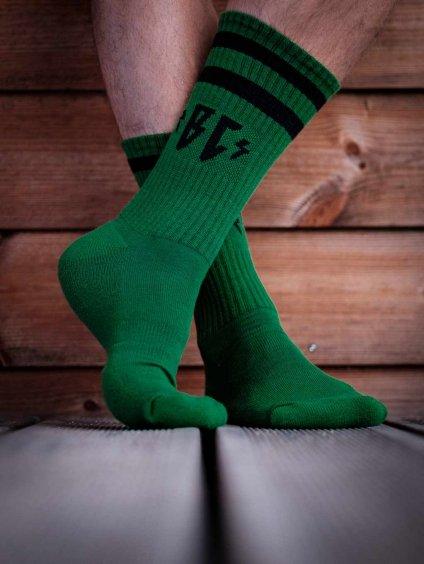 merino ponožky zelené breakout