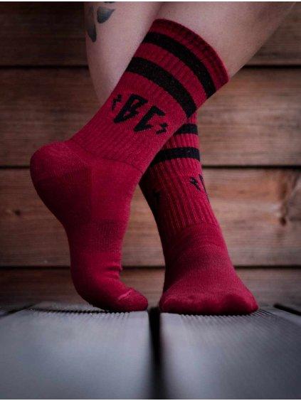 merino ponožky vínové breakout
