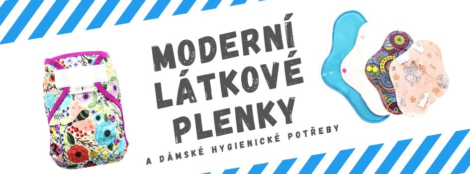 Moderní látkové plenky a dámské hygienické potřeby
