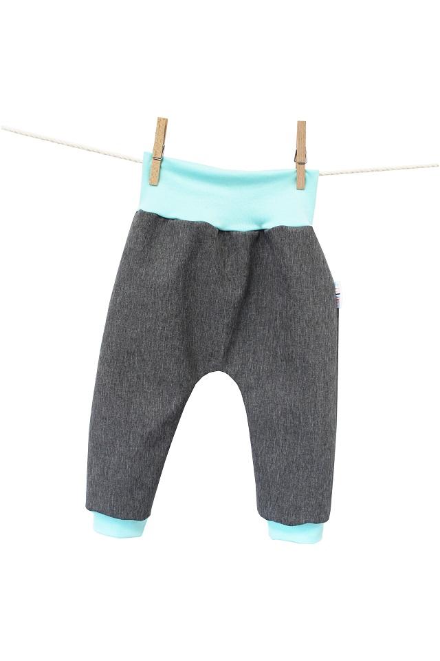 Turecké kalhoty ze sofshellu