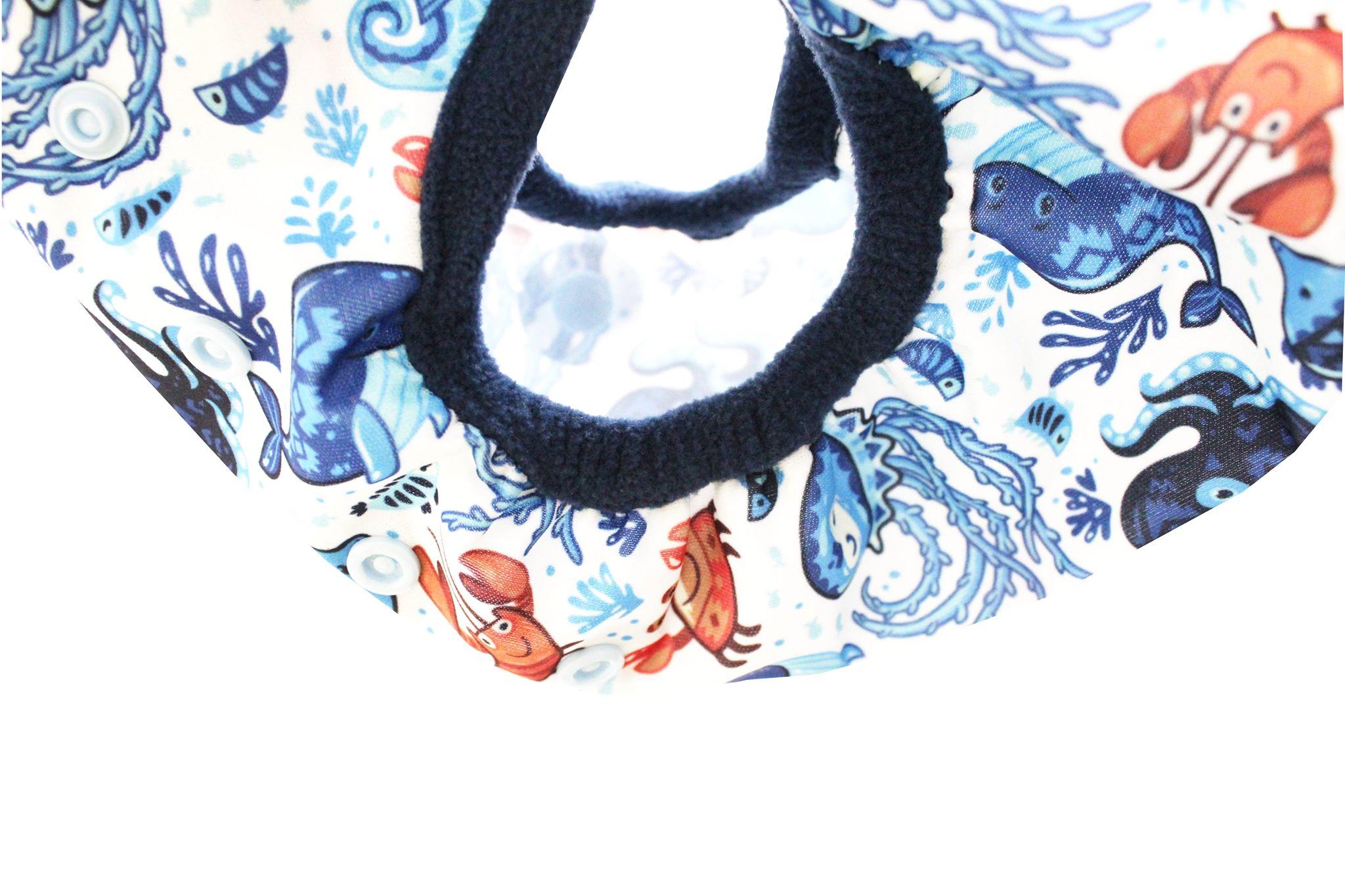 Svrchní kalhotky z PULu - Lemované fleecem, novorozenecké, na suchý zip, bez křidélek