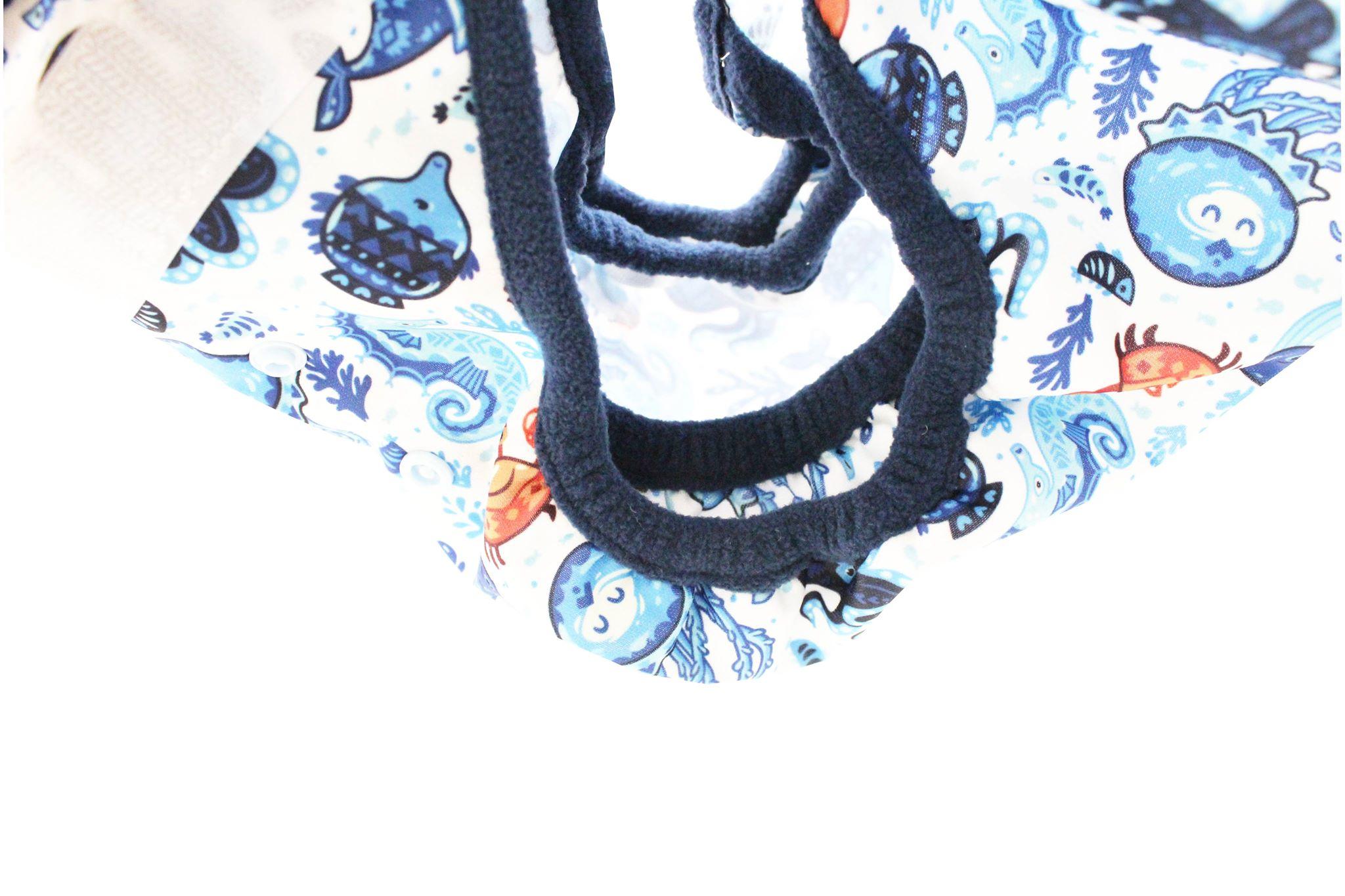 Svrchní kalhotky z PULu - Lemované fleecem, novorozenecké, na suchý zip, s křidélky