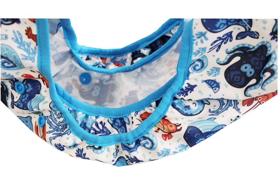 Svrchní kalhotky z PULu - Lemované gumičkou, novorozenecké, na suchý zip,s křidélky