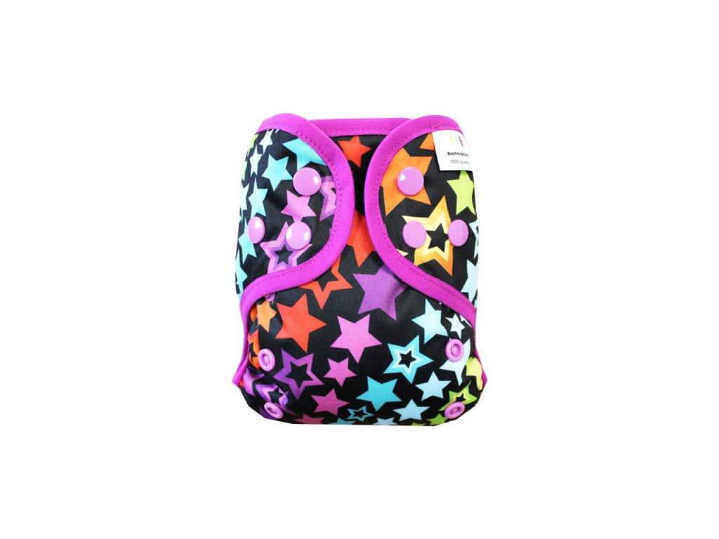 Hvězdná duha S PAT, fialová gum1