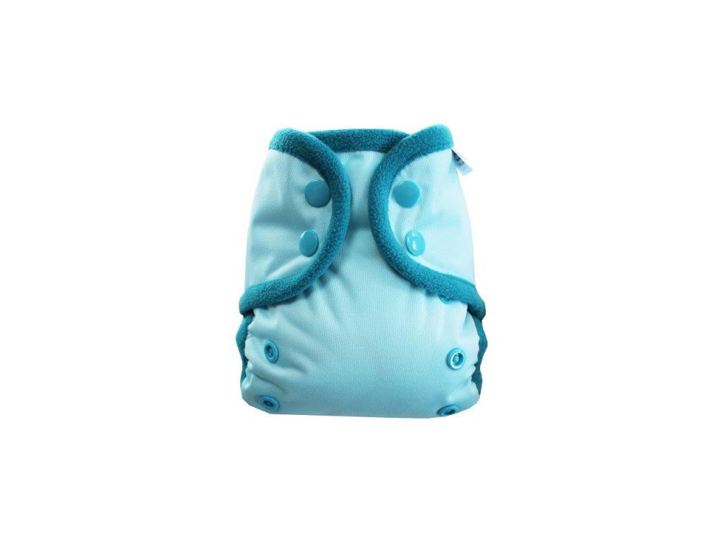Světle modrá S PAT, tyrkys fleece
