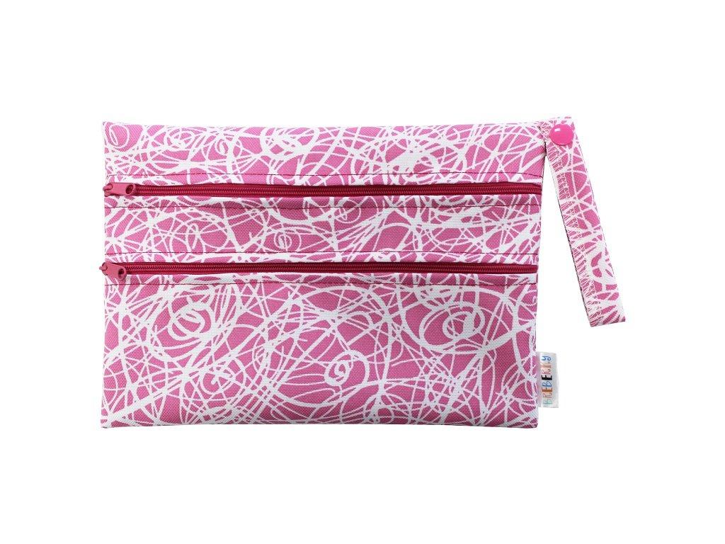 Dvoukomorový XS Bludiště růžové