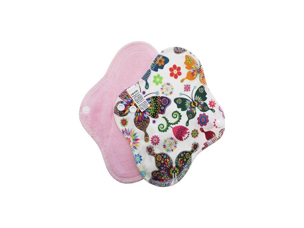 Slipovka PUL Motýlí kaleidoskop, sv.růžový velur