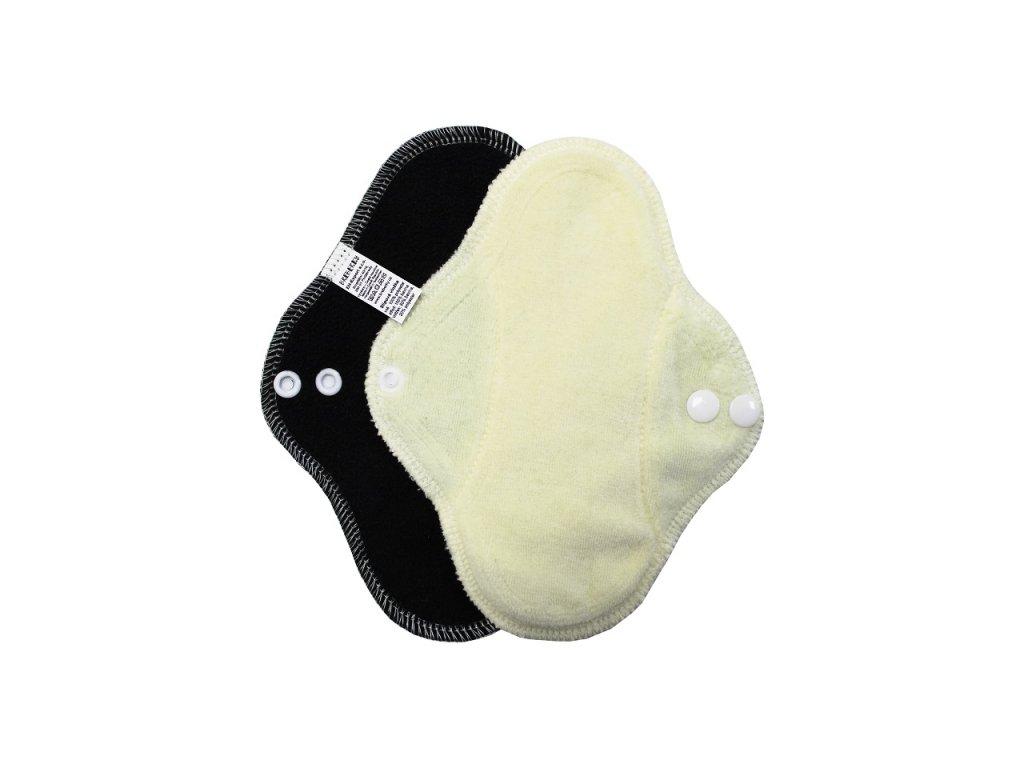 Slipovka fleece Černá, sv.žlutý velur