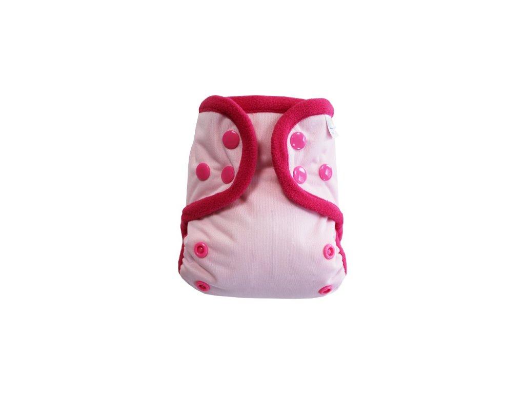 Světle růžová S PAT, růžový fleece