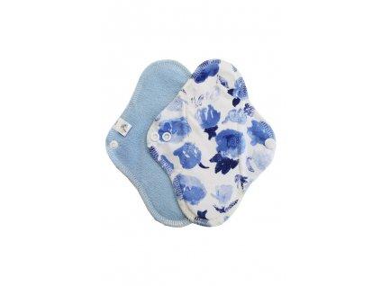 Slipovka froté pul Modrá, Modré květy1