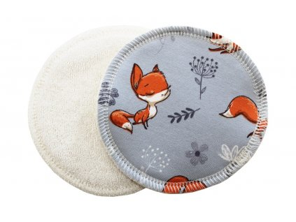 Prsní Lišky na šedé