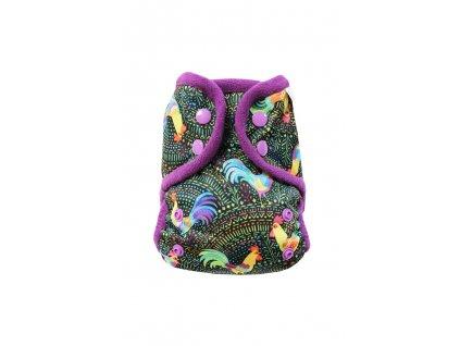 Kohouti S PAT, fialový fleece